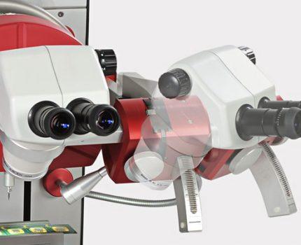 Microscope support swivel