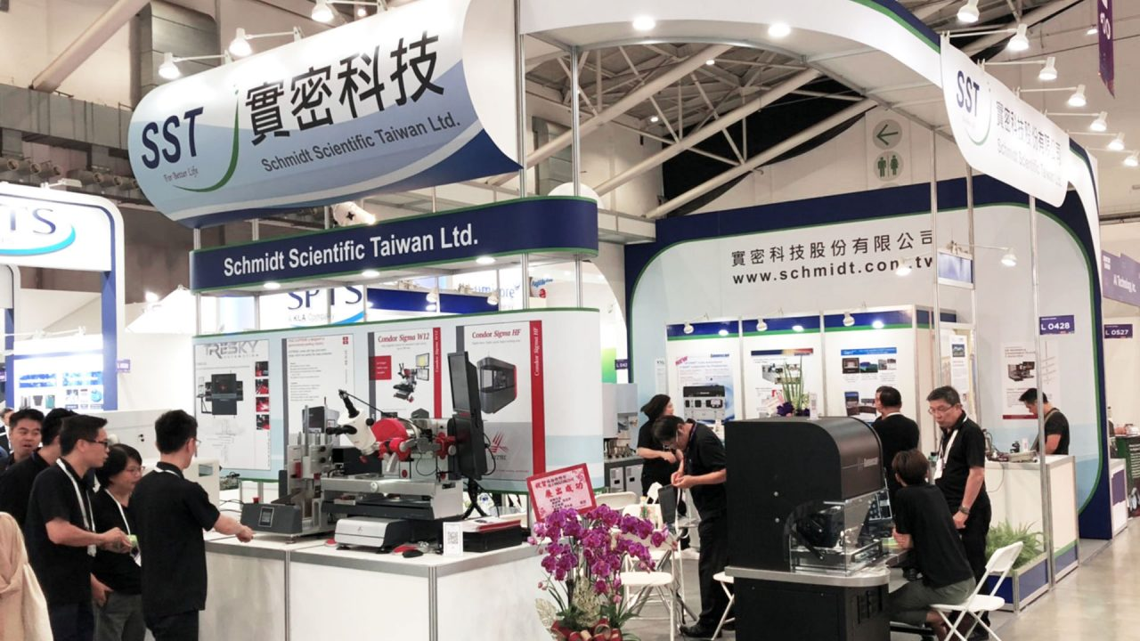 SST exhibiting the XYZTEC Sigma at Semicon Taiwan 2019