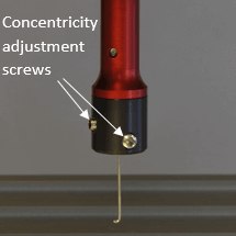 Manual hook concentricity adjustment