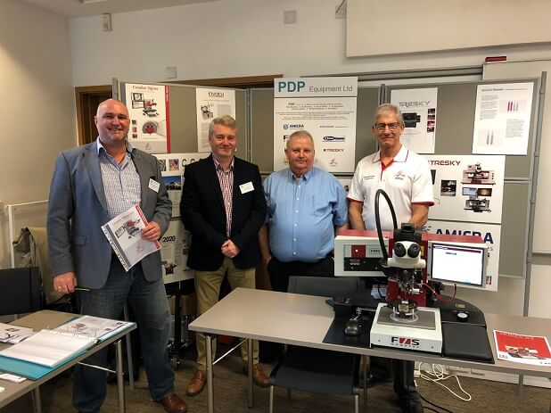 xyztec's Bob Sykes and Volker Loibl-Kähler at IMAPS UK with distributor PDP
